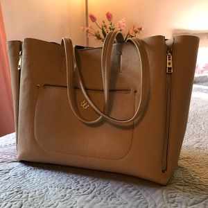 Ann Taylor leather tote bag
